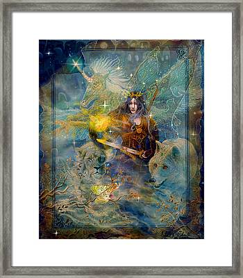 Angel Tarot Card Enchanted Princess Framed Print by Steve Roberts