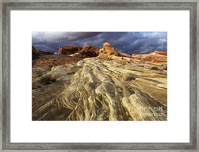 Enchanted Spaces Valley Of Fire Framed Print by Bob Christopher
