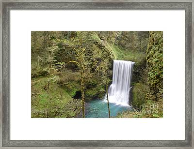 Enchanted Wilderness Waterfall Framed Print by Andrea Hazel Ihlefeld