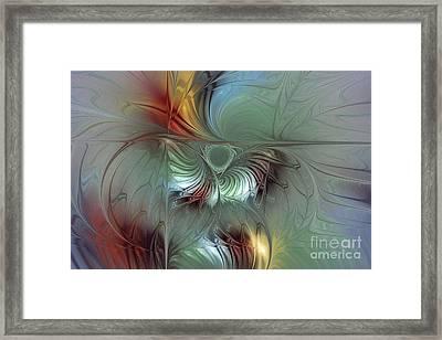 Enchanting Flower Bloom-abstract Fractal Art Framed Print by Karin Kuhlmann
