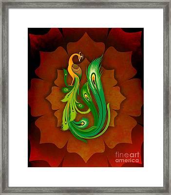 Enchanting Peacock 1 Framed Print