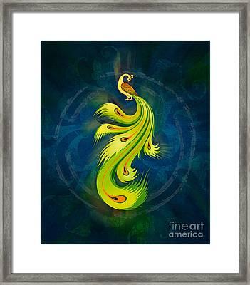 Enchanting Peacock 2 Framed Print by Bedros Awak