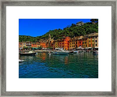 Enchanting Portofino In Ligure Italy I Framed Print by M Bleichner