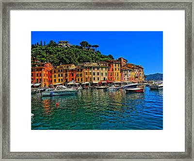 Enchanting Portofino In Ligure Italy II Framed Print by M Bleichner