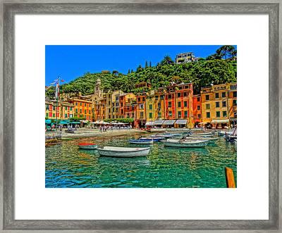Enchanting Portofino In Ligure Italy IIi Framed Print by M Bleichner
