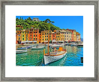 Enchanting Portofino In Ligure Italy V Framed Print by M Bleichner