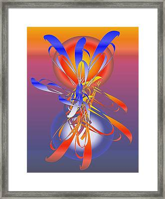 Framed Print featuring the digital art Enchantment Sun And Moon by Gayle Price Thomas