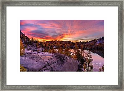 Enchantments Golden Fall Colors Framed Print by Mike Reid
