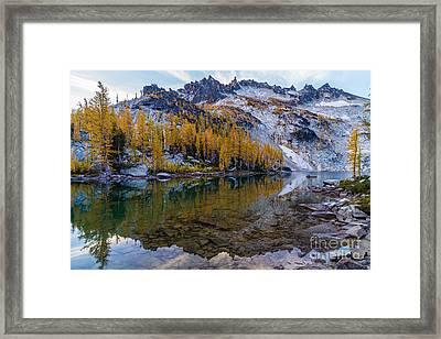 Enchantments Mcclellan Peak Fall Reflections Framed Print