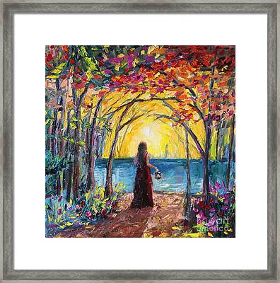 Framed Print featuring the painting Enchanted by Jennifer Beaudet