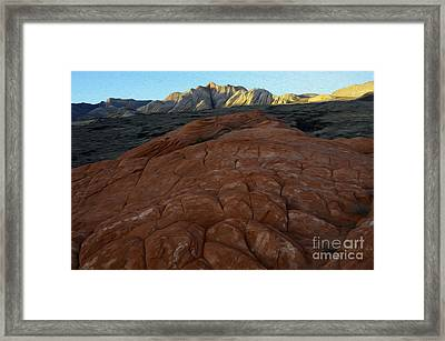 Enchanted Spaces Snow Canyon Utah Framed Print