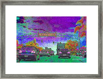 Encinitas California 5d24221m68 Framed Print by Wingsdomain Art and Photography