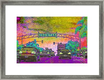 Encinitas California 5d24221p68 Framed Print by Wingsdomain Art and Photography