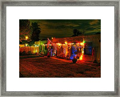 Encinitas Christmas Framed Print