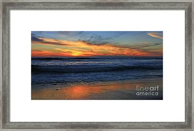 Swamis Skyburst 21x40 Inches Framed Print