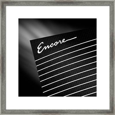 Encore Framed Print by Dave Bowman