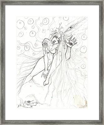 Encounter Framed Print by Coriander  Shea