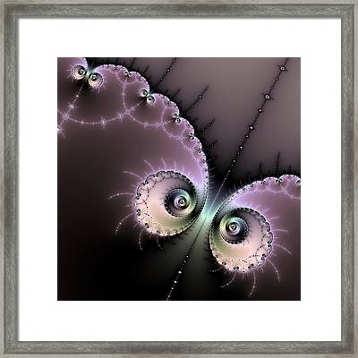 Encounter - Digital Fractal Artwork Framed Print