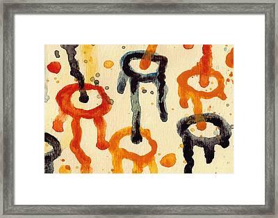 Encounters 4 Framed Print by Amy Vangsgard