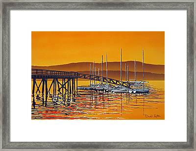 Encounters With Color Framed Print by David Linton
