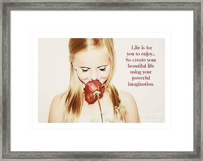 Encourage Imagination Framed Print