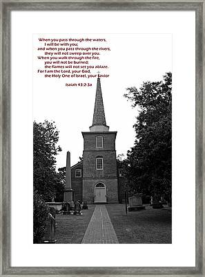 Encouragement Framed Print by Carolyn Ricks