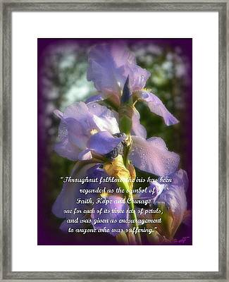 Encouraging Iris Framed Print by Michelle Frizzell-Thompson