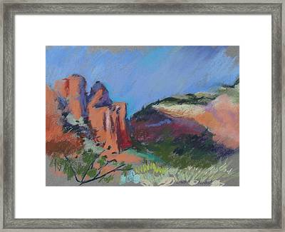 Framed Print featuring the painting Encroaching Shadows by Linda Novick