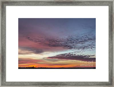 End Of 2012 Sunrise Framed Print by Michael Waters