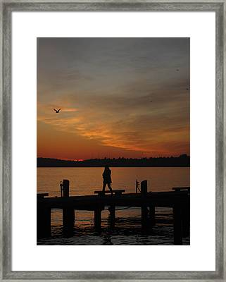 End Of A Day Framed Print by Cheryl Perin