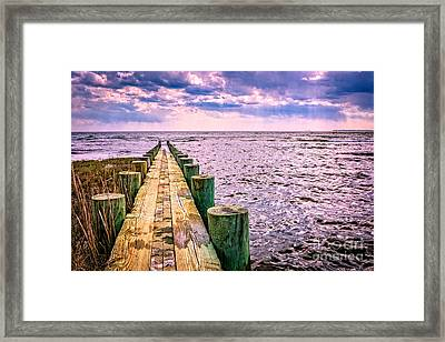 End Of A Glorious Day Framed Print by Edward Fielding