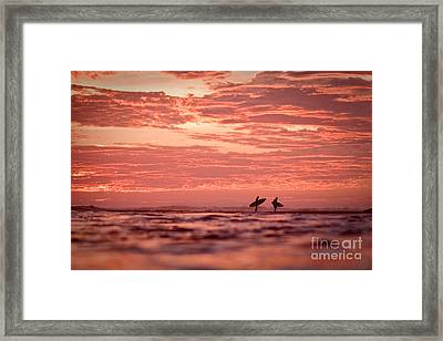 Framed Print featuring the photograph End Of A Perfect Day by Paul Topp