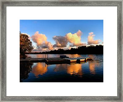 End Of A Summer Day Framed Print