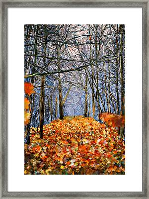 End Of Autumn Framed Print by Bruce Nutting