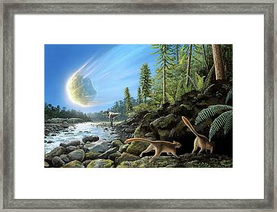 End Of Cretaceous Kt Event Framed Print by Richard Bizley
