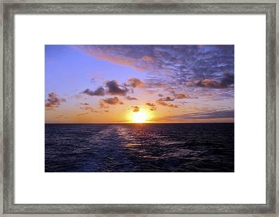 Hawaiian End Of Day Framed Print