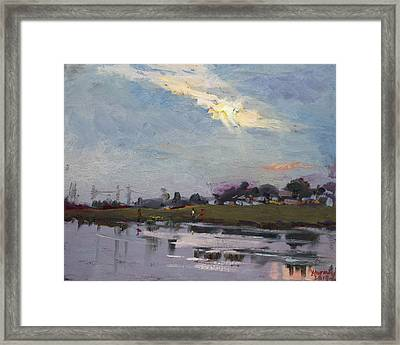 End Of Day By Elmer's Pond Framed Print by Ylli Haruni