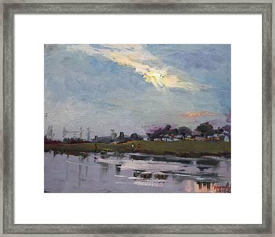 End Of Day By Elmer's Pond Framed Print
