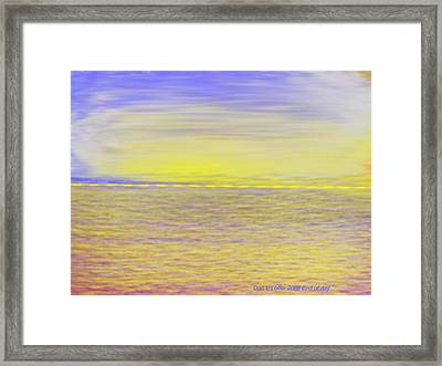 End Of Day Framed Print by Dr Loifer Vladimir