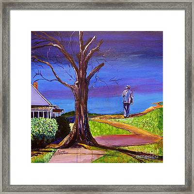 Framed Print featuring the painting End Of Day Highway 98 by Ecinja Art Works