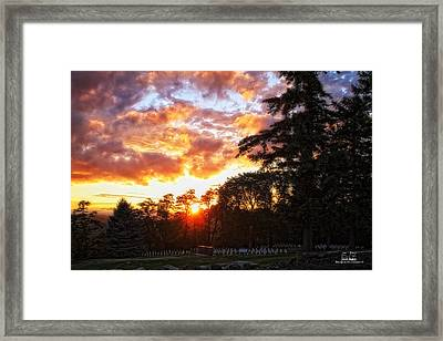 End Of Day In Time Framed Print by Dan Quam