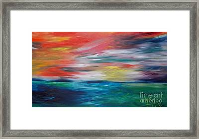 End Of Day Framed Print by PainterArtist FIN