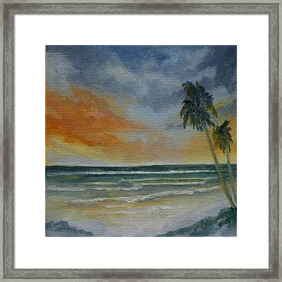 End Of Day Framed Print by Rosie Brown