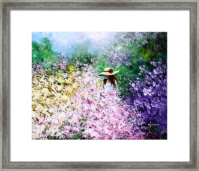 Framed Print featuring the painting End Of May by Kume Bryant