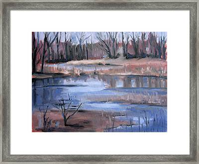 End Of Path Framed Print