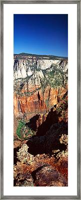 End Of Road To Zion Narrows, Zion Framed Print by Panoramic Images