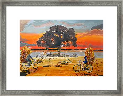 End Of Season Habits Listen With Music Of The Description Box Framed Print by Lazaro Hurtado
