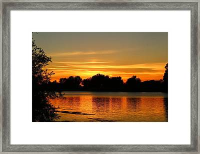 Framed Print featuring the photograph End Of Summer Sunset by Lynn Hopwood