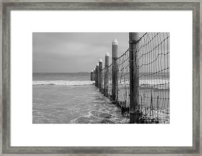 End Of The Beach Framed Print