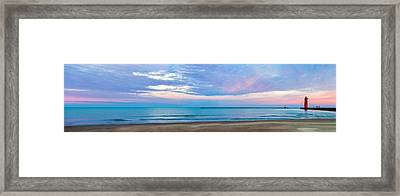 Framed Print featuring the photograph End Of The Blue Hour by Steven Santamour